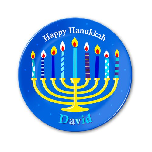 Hanukkah Personalized Kids Plate
