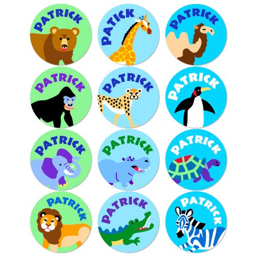 Olive Kids Wild Animals Personalized Stickers