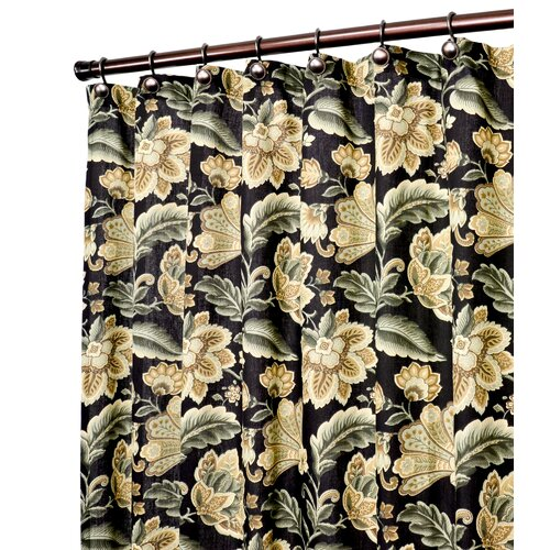 Valerie Polyester Jacobean Floral Print Shower Curtain