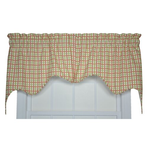 "Ellis Curtain Charlestown Check Empress 70"" Curtain Valance"