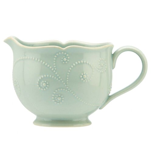 Lenox French Perle Ice Blue Sauce Pitcher