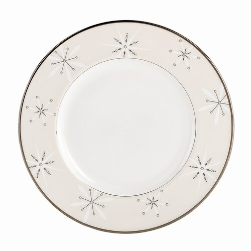 """Lenox Federal 9"""" Snowflake Accent Plate"""
