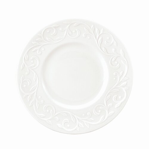 "Lenox Opal Innocence Carved 7.25"" Dessert Plate"