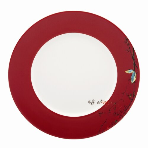 """Lenox Chirp 10.75"""" Scarlet Dinner Plate"""