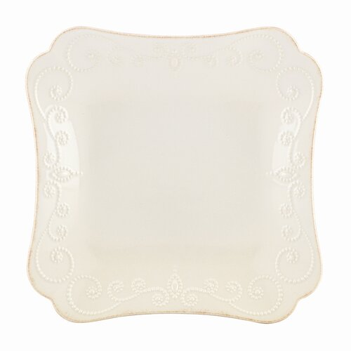 """Lenox French Perle 9.5"""" Square Dinner Plate"""