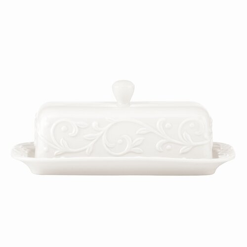 Lenox Opal Innocence Carved Butter Dish