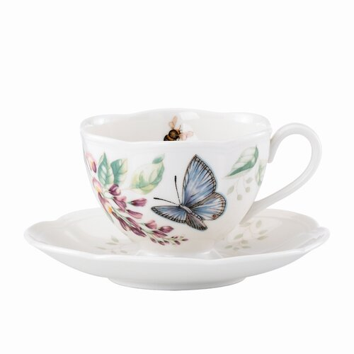 Lenox Butterfly Meadow 8 oz. Butterfly Cup and Saucer