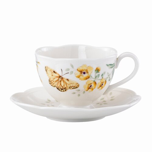 Lenox Butterfly Meadow 8 oz. Fritillary Cup and Saucer