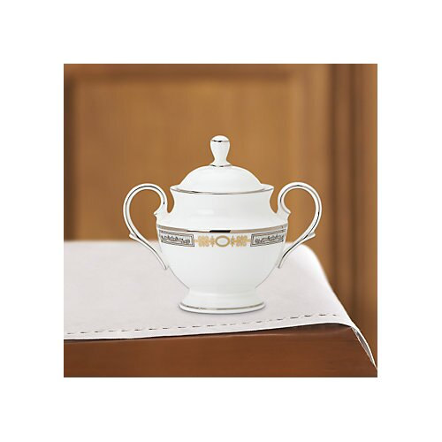 Lenox Silver Applique 10 oz. Sugar Bowl with Lid