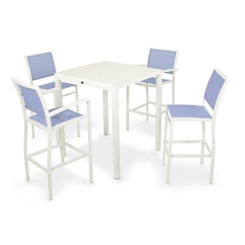 POLYWOOD® Bayline™ 7 Piece Bar Dining Set