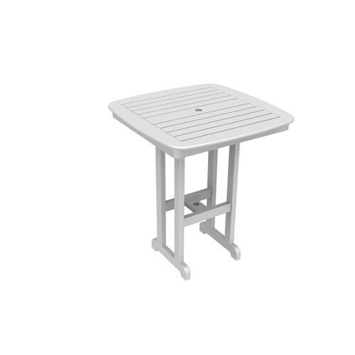 POLYWOOD® Nautical Outdoor Bar Table