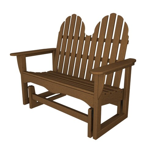POLYWOOD® Adirondack Plastic Garden Bench