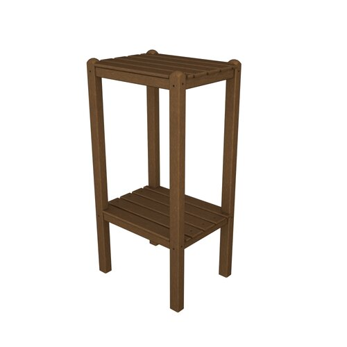 POLYWOOD® Two Shelf Bar Height Side Table