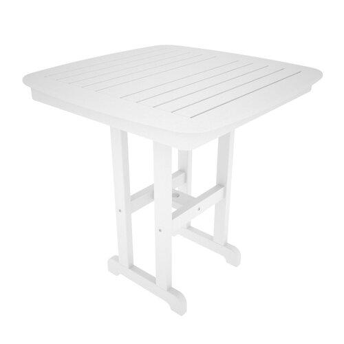 POLYWOOD® Nautical Square Counter Bar Table