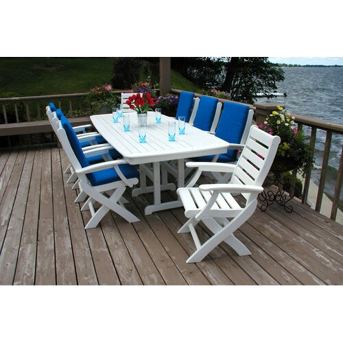 POLYWOOD® SlateNautical Rectangle Dining Table