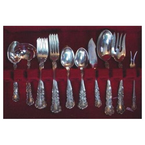 Gorham Sterling Silver Groham Buttercup 46 Piece Flatware Set
