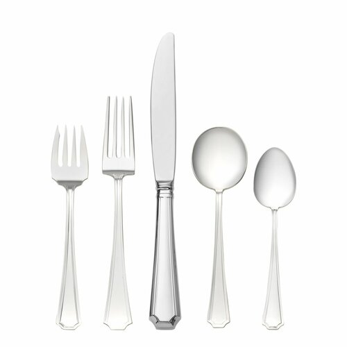 Sterling Silver Groham Fairfax 5 Piece Flatware Set