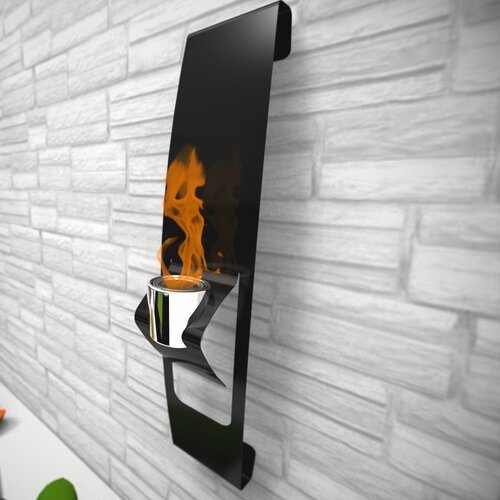 Decorpro Ark Wall Mounted Bio Ethanol Fireplace