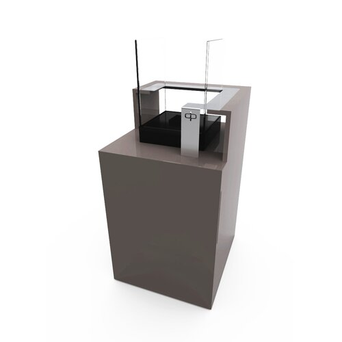 Decorpro Podium Bio Ethanol Fireplace with Storage Unit