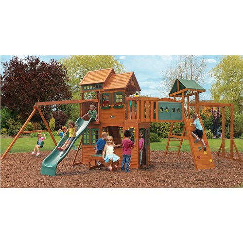 big backyard cedar hill cedar summit premium playset
