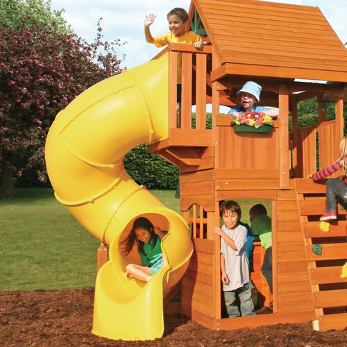 Big Backyard Cedar Summit Grandview Deluxe Wooden Play Set & Reviews