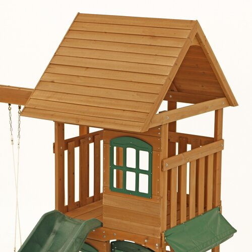 Big Backyard Ridgeview Deluxe Clubhouse Wooden Play Set ...