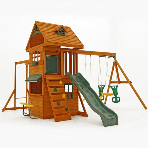 Big Backyard Windale : Big Backyard Ridgeview Deluxe Clubhouse Wooden Play Set