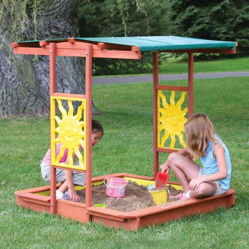 Big Backyard Brighton 4' Rectangular Sandbox with Cover