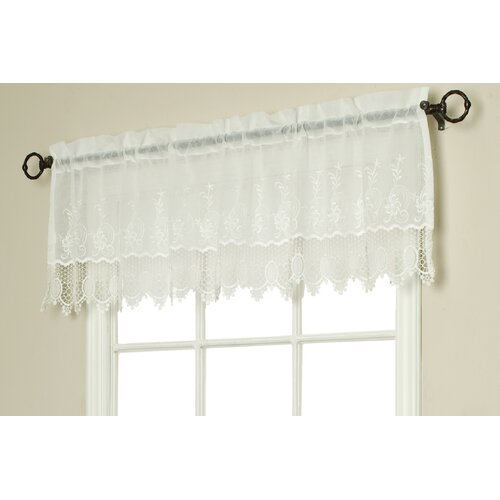 "Commonwealth Home Fashions Anna Maria Macramé 55"" Curtain Valance"