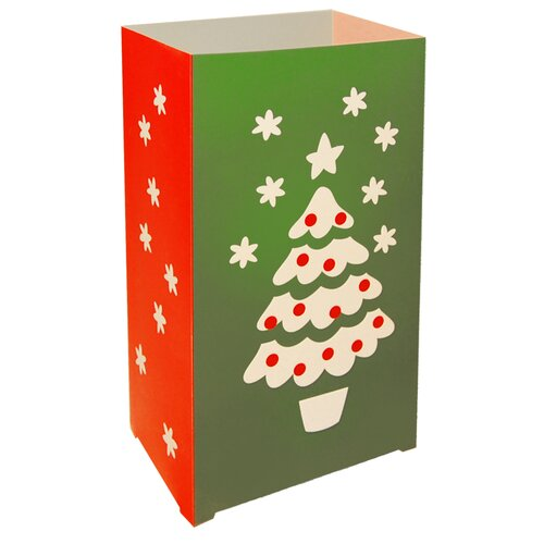 Christmas Tree Plastic Luminarias (Set of 12)