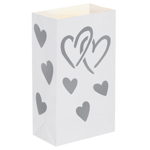 Heart Luminaria Bags (Set of 24)