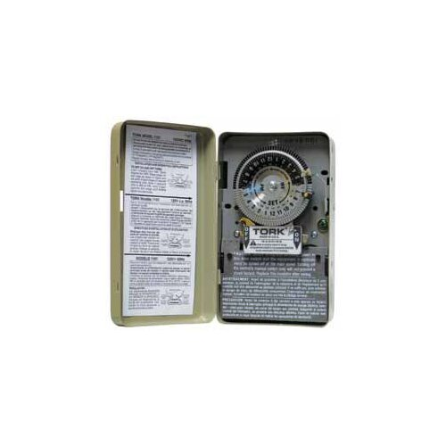 NSI Industries 208-277 Volts 24 Hours SPST Mechanical Time Switch