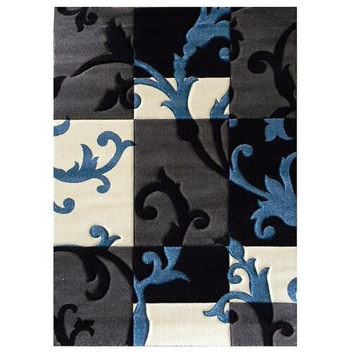 DonnieAnn Company Studio 602 Charcoal Flora Design Rug