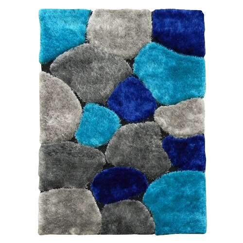 Flash Shaggy Abstract Color Block Rug