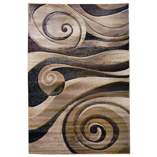 DonnieAnn Company Sculpture Champaign Abstract Swirl Rug