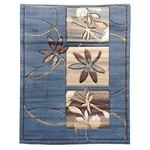 Sculpture Blue Floral Rug