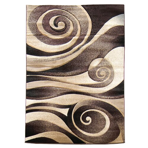 Sculpture Brown Tan Abstract Swirl Area Rug Wayfair
