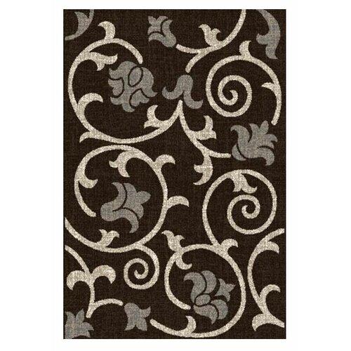 DonnieAnn Company Lexington Chocolate Floral / Swirl Vine Rug