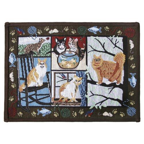 Park B Smith Ltd PB Paws & Co. Woodland Cat Days Tapestry Rug