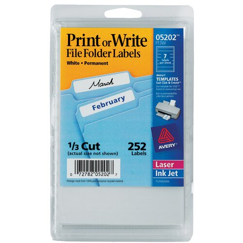Avery File Folder Label in White