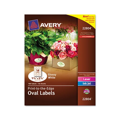 Avery Easy Peel Labels, 180/Pack