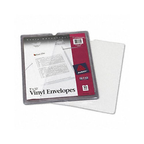 Avery Top-Load Clear Envelopes with Thumb Notch, 10/Pack