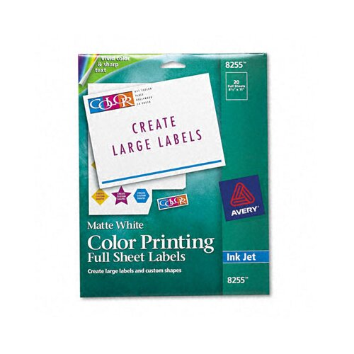 Avery Matte White Mailing Labels