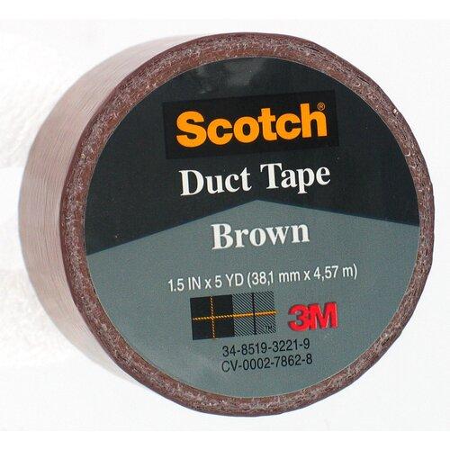 "Bussman 1.5"" X 5 Yard Brown Scotch® Duct Tape 1005-BRN-1P"