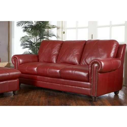 Luke Leather Weston Sofa Amp Reviews Wayfair