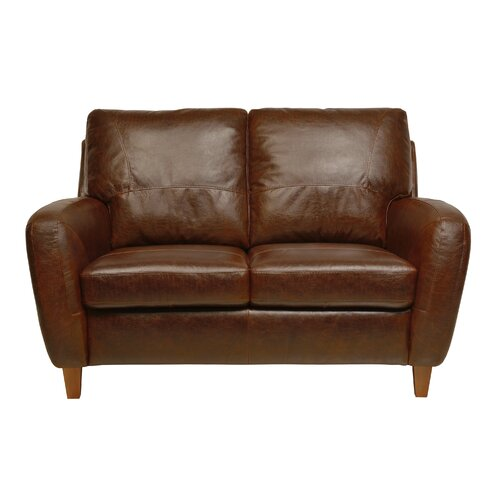 Luke Leather Jennifer Loveseat