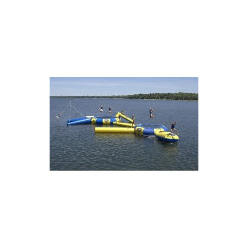 Rave Sports Aqua Jump 200-Eclipse Trampoline with Launch and Log