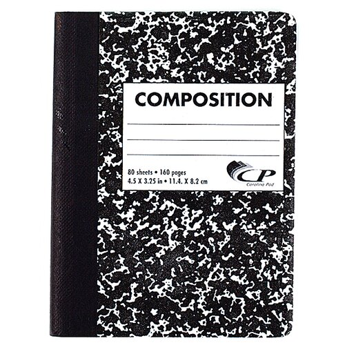 CPPInternational 80 Sheet Mini Composition Book Assorted Colors