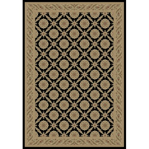 Concord Global Imports Charlemagne Aubusson Black Rug