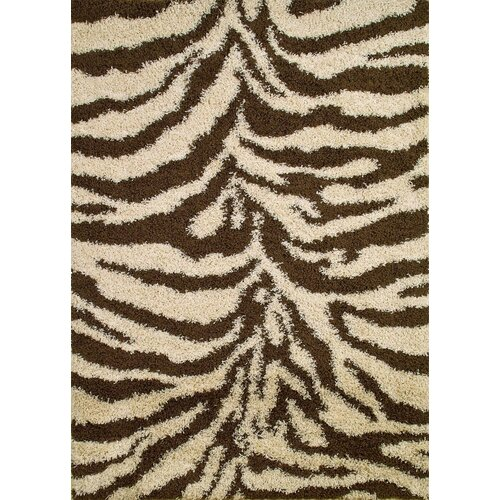 Concord Global Imports Shaggy Zebra Natural Shag Rug